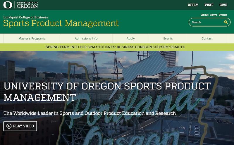 米オレゴン大学スポーツプロダクトマネジメント